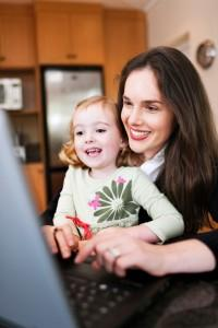 work at home with kids